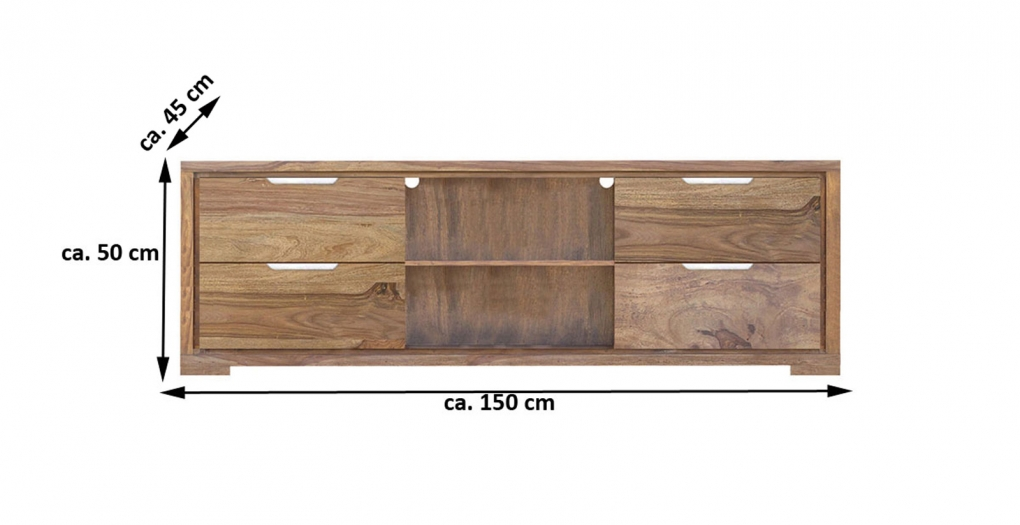 SALE Lowboard TV-Schrank Sheesham 150 cm White Mountain III Auf Lager ! itemprop=