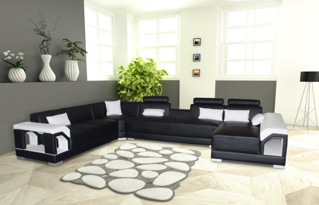 sale sofa wohnlandschaft ecksofa schwarz wei links zippora. Black Bedroom Furniture Sets. Home Design Ideas