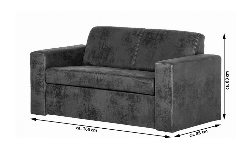 Sale schlafsofa sofa wildlederoptik stoff 165 cm fusion for Schlafsofa sale