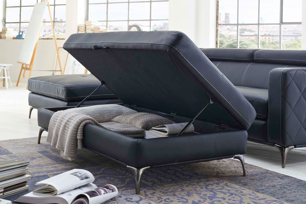 SALE Sofa Couch Ecksofa anthrazit Ottomane links 300 x 132 cm  Dario Auf Lager ! itemprop=