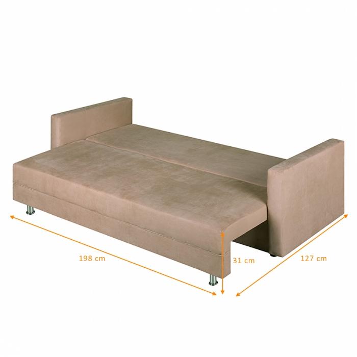 sale schlafsofa beige sofa 220 cm karol g nstig. Black Bedroom Furniture Sets. Home Design Ideas