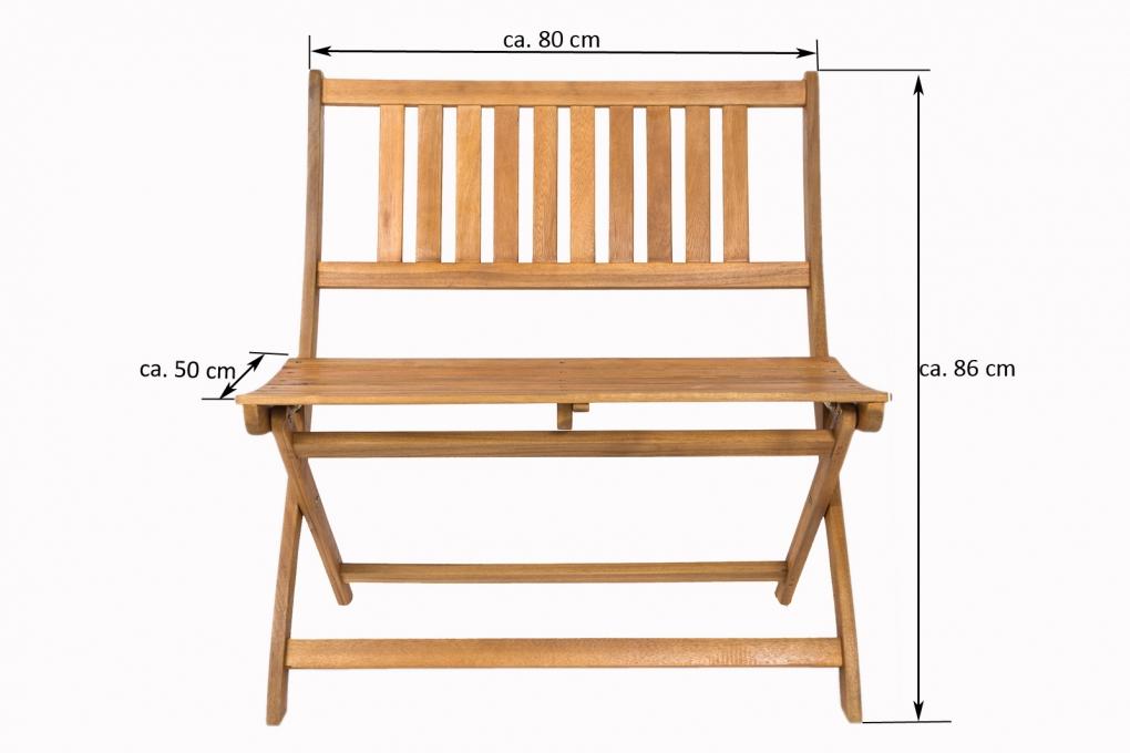 sam gartenm bel set 4tlg akazienholz balkontisch 80x60 cm skara. Black Bedroom Furniture Sets. Home Design Ideas