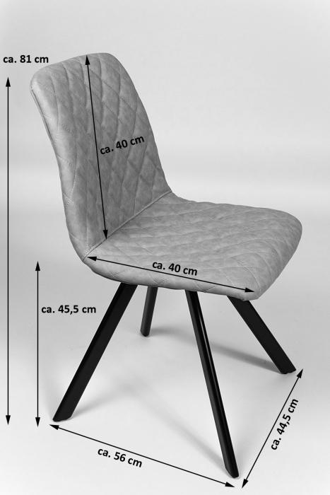 sale esszimmerstuhl polsterstuhl in lederoptik tabak spike. Black Bedroom Furniture Sets. Home Design Ideas