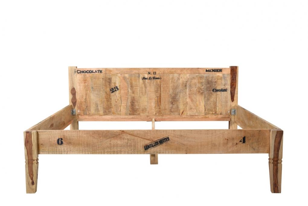 sale massivholzbett 180x200 cm holzbett mangoholz rustic. Black Bedroom Furniture Sets. Home Design Ideas