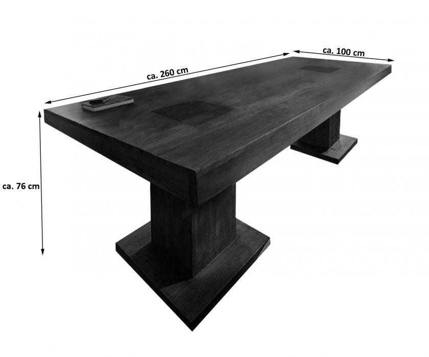 sale esstisch massivholztisch 260 x 100 cm akazie tabak timber 6695. Black Bedroom Furniture Sets. Home Design Ideas