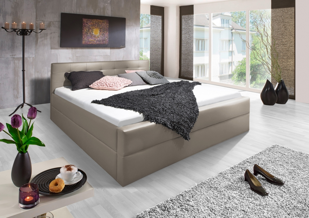 sale polsterbett 140 x 200 cm muddy g nstig bettgestell kappa. Black Bedroom Furniture Sets. Home Design Ideas