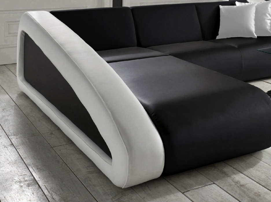 sale couch ecksofa polsterecke 250 x 270 cm schwarz wei ciao. Black Bedroom Furniture Sets. Home Design Ideas