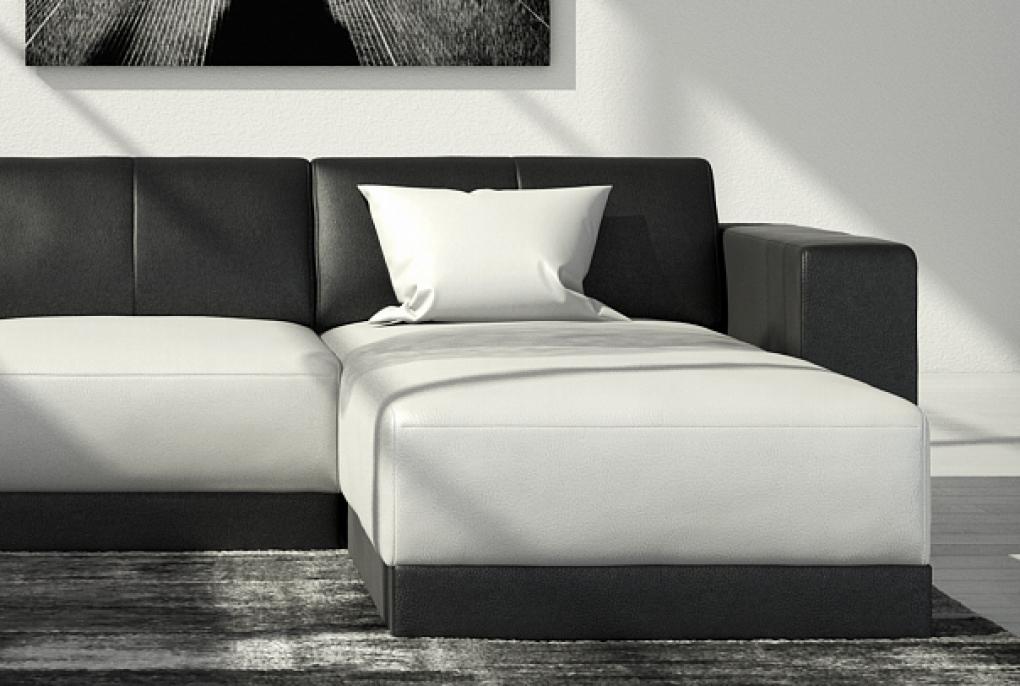 Sale couch ecksofa polsterecke 260 x 200 cm wei schwarz for Couch 200 cm