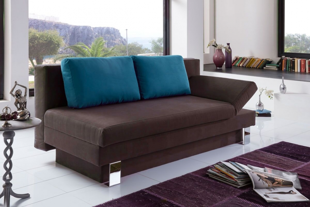 sale schlafsofa braun couch 200 cm till g nstig. Black Bedroom Furniture Sets. Home Design Ideas