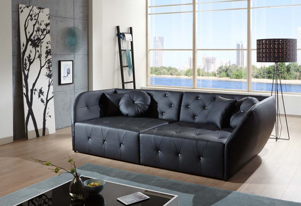 SALE Design Sofa schwarz Couch Shel itemprop=