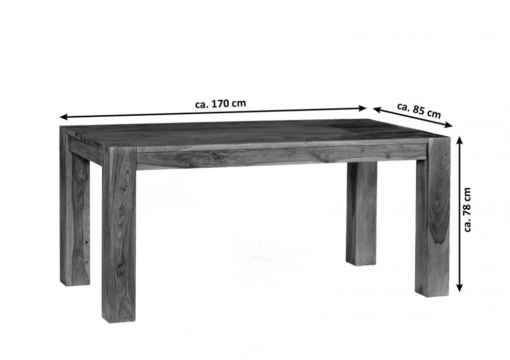 sale esstisch holz massiv g nstig 170 x 85 cm sheesham thor. Black Bedroom Furniture Sets. Home Design Ideas