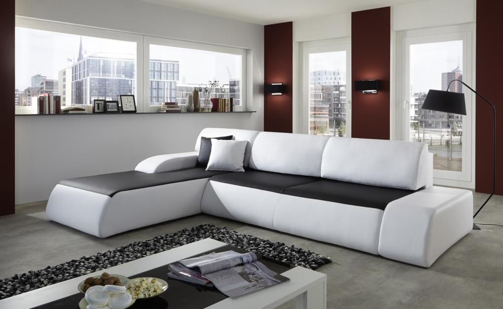 sale ecksofa schwarz wei 220 x 280 cm sol g nstig. Black Bedroom Furniture Sets. Home Design Ideas