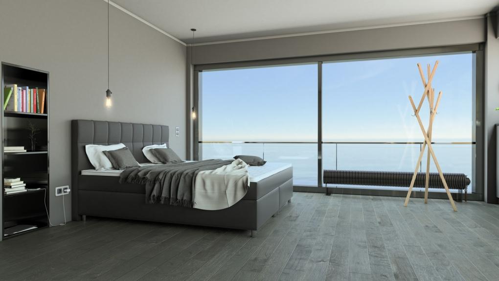 sam boxspringbett hotelbett 180x200 cm grau zalan demn chst. Black Bedroom Furniture Sets. Home Design Ideas