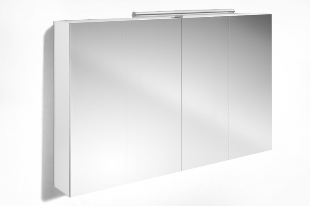 SAM® Badezimmer Spiegelschrank 120 cm Hochglanz weiß VERENA