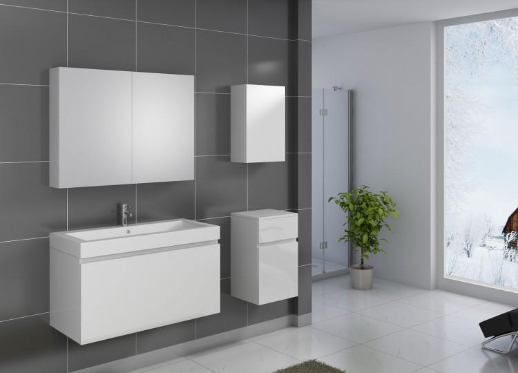 sam badezimmerm bel parma 4tlg wei hochglanz 100 cm auf lager. Black Bedroom Furniture Sets. Home Design Ideas