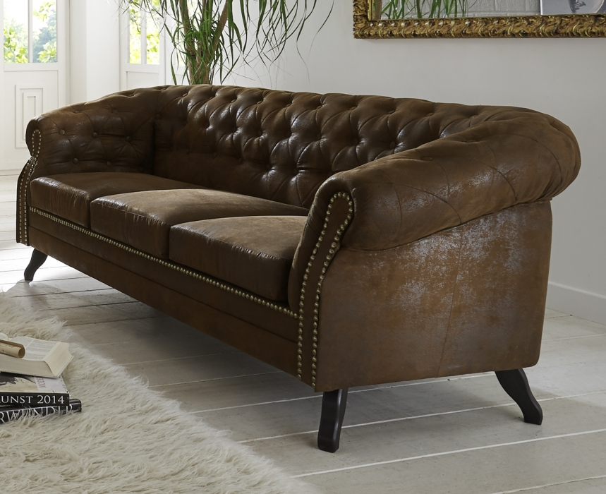 SALE Couch 3-Sitzer Wildlederoptik Stoff Sofa BRISTOL