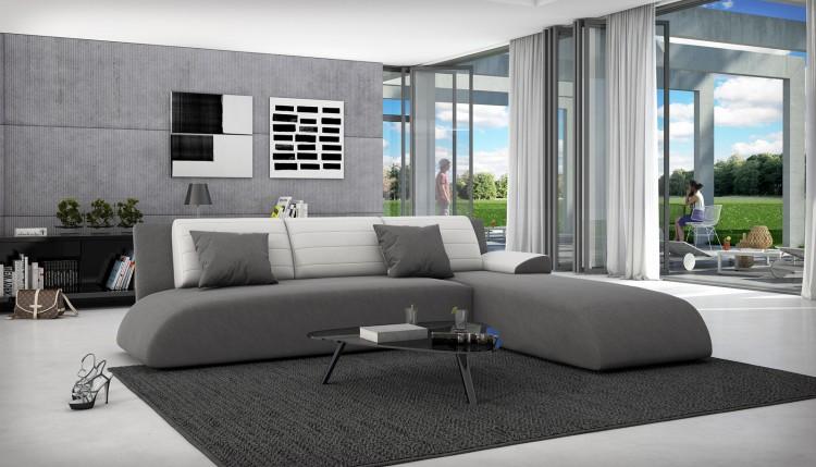 sam ecksofa grau wei schlafsofa manzanilla 280 x 220 cm demn chst produktfoto. Black Bedroom Furniture Sets. Home Design Ideas