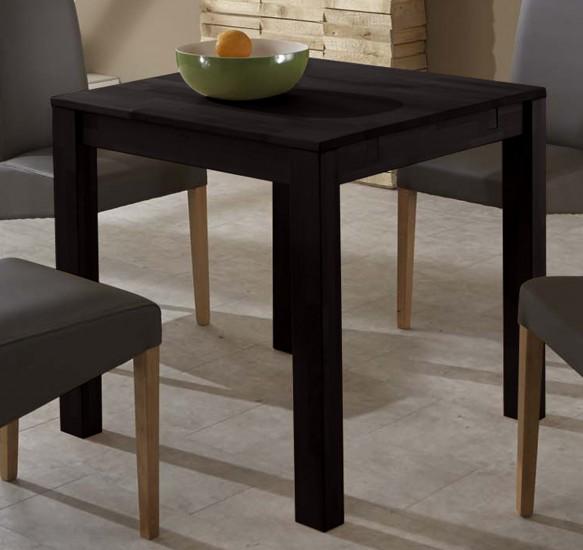 sam esszimmertisch wenge 80 x 80 cm massiv wilma auf lager. Black Bedroom Furniture Sets. Home Design Ideas