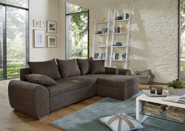 sam ecksofa grau snow schlafsofa 260 x 160 cm bestellware. Black Bedroom Furniture Sets. Home Design Ideas