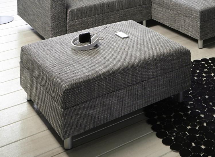 wohnzimmer design grau:SAM® Wohnzimmer Design Hocker grau Claudius Bestellware