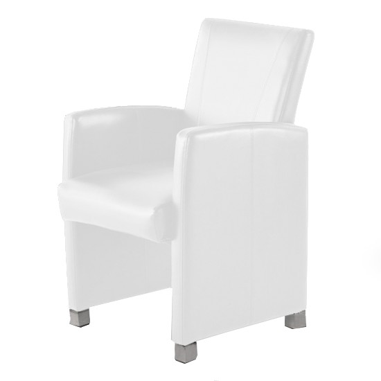 sam design armlehn sessel recyceltes leder wei maicon auf lager. Black Bedroom Furniture Sets. Home Design Ideas