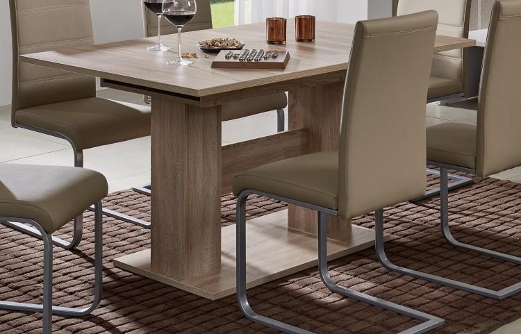 sam esszimmer tisch sonoma eiche ausziehtisch como auf lager produktfoto. Black Bedroom Furniture Sets. Home Design Ideas