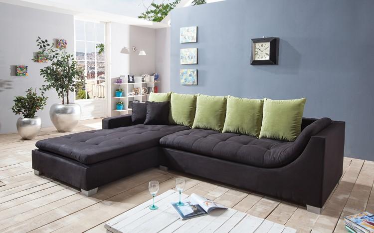 sam ecksofa stoff schwarz sofa villa 200 x 305 cm auf lager. Black Bedroom Furniture Sets. Home Design Ideas