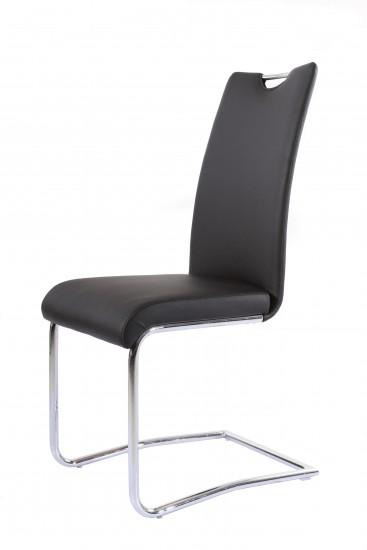 sam design freischwinger stuhl echtleder schwarz rh2233 auf lager produktfoto. Black Bedroom Furniture Sets. Home Design Ideas