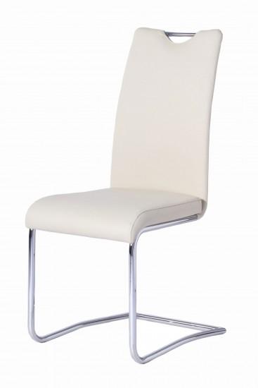 sam design freischwinger stuhl echtleder wei rh2233 auf lager produktfoto. Black Bedroom Furniture Sets. Home Design Ideas