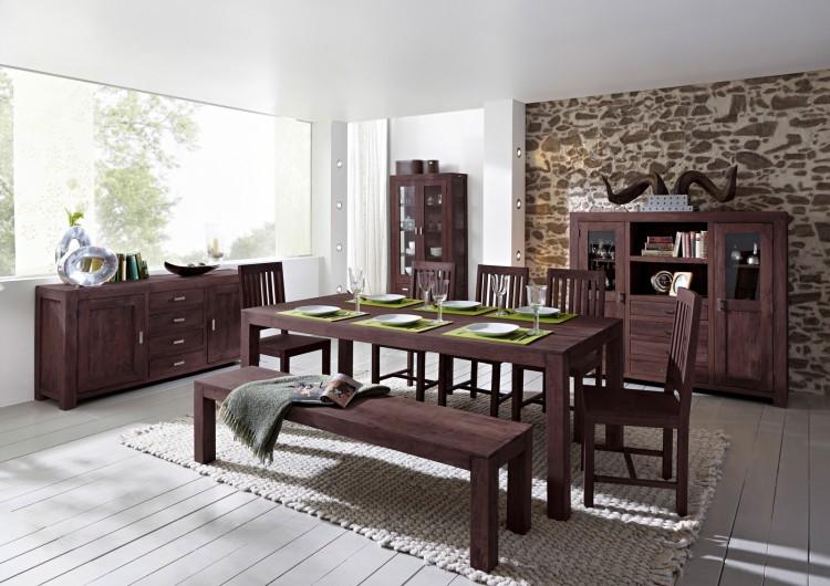 sam tischgruppe 7tlg 210 cm timber 6610 akazie massiv tabak auf lager produktfoto. Black Bedroom Furniture Sets. Home Design Ideas
