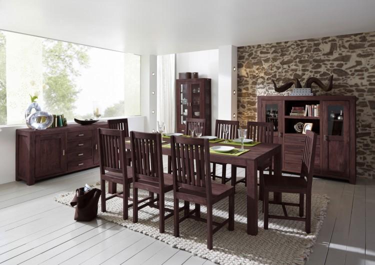 sam tischgruppe 9tlg 210 cm timber 6610 akazie massiv tabak auf lager produktfoto. Black Bedroom Furniture Sets. Home Design Ideas