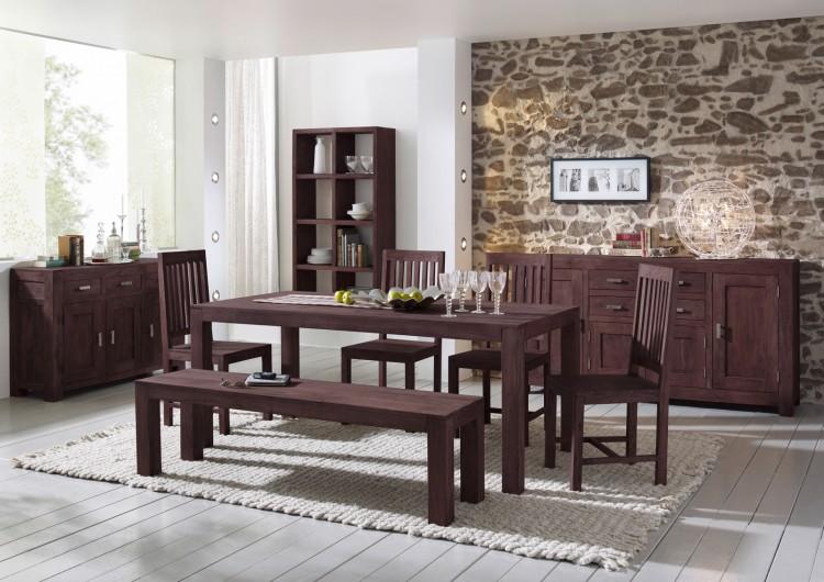 sam tischgruppe 6tlg 140 cm timber 6630 akazie massiv tabak auf lager. Black Bedroom Furniture Sets. Home Design Ideas