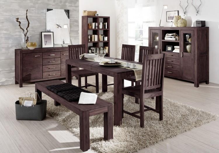 sam tischgruppe 6tlg 180 cm timber 6609 akazie massiv tabak auf lager produktfoto. Black Bedroom Furniture Sets. Home Design Ideas