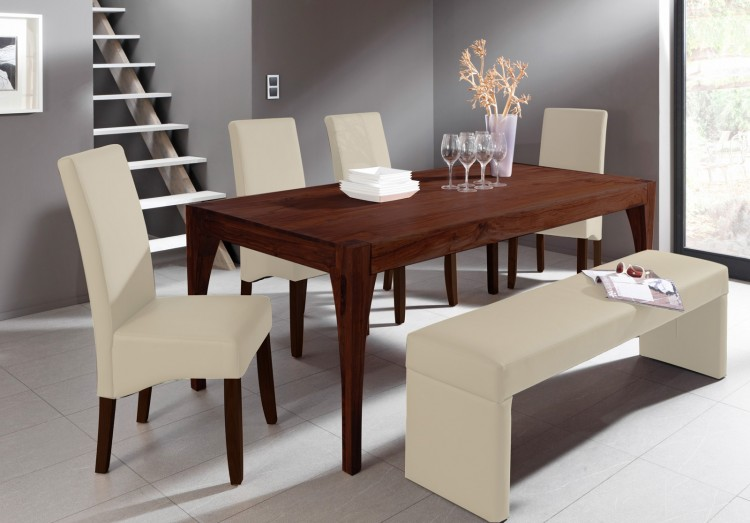 sam tischgruppe 6tlg akazie organic 4614 180 cm verona tabak auf lager produktfoto. Black Bedroom Furniture Sets. Home Design Ideas
