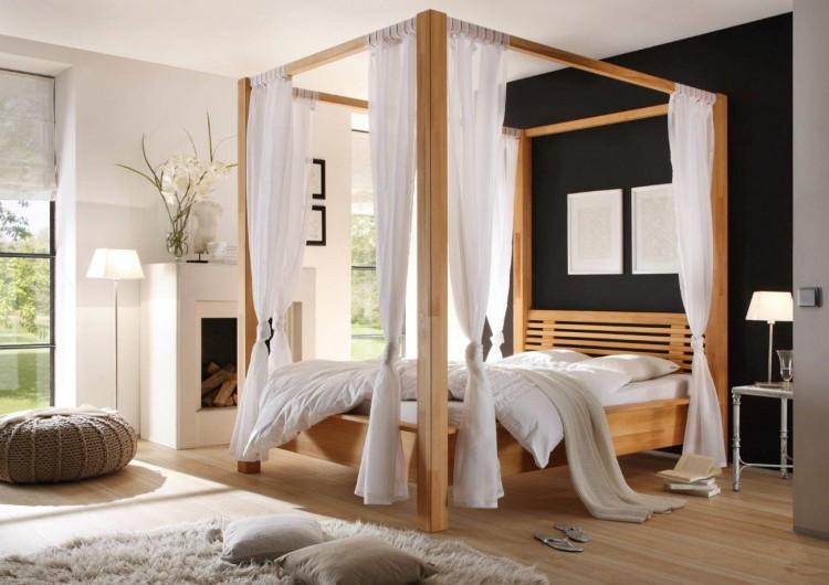 sam himmelbett kernbuche 140 x 200 cm tanja auf lager. Black Bedroom Furniture Sets. Home Design Ideas