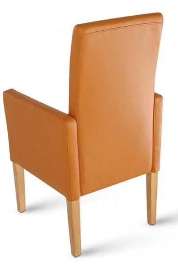 sam armlehn stuhl turin recyceltes leder cognac buche. Black Bedroom Furniture Sets. Home Design Ideas