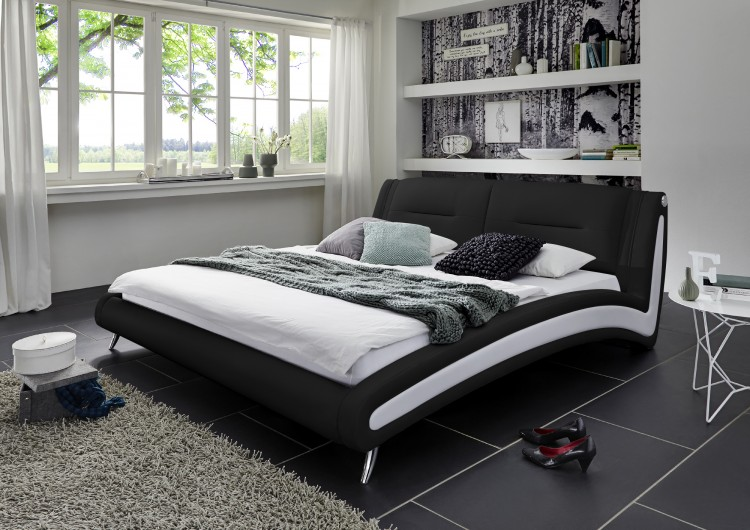 sam design bett 120 x 200 cm schwarz inside wei swing. Black Bedroom Furniture Sets. Home Design Ideas