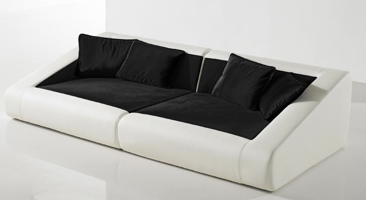 sam design sofa 4er schwarz wei sofa siena 260 cm. Black Bedroom Furniture Sets. Home Design Ideas