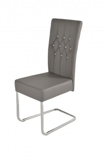 Sam freischwinger stuhl in grau metall magnus for Essstuhl grau