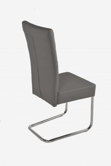 sam freischwinger stuhl in grau metall magnus. Black Bedroom Furniture Sets. Home Design Ideas