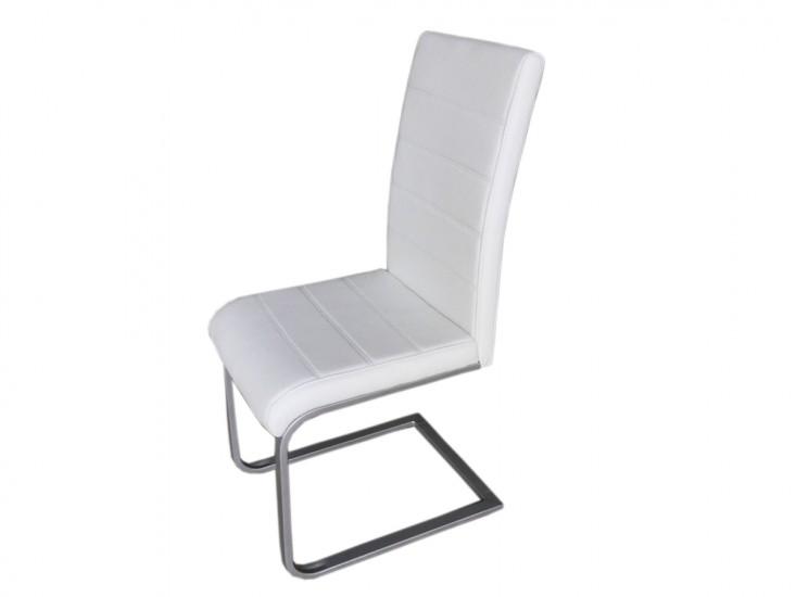Sam freischwinger stuhl in wei metall piet 30 2er set for Design stuhl freischwinger piet 30