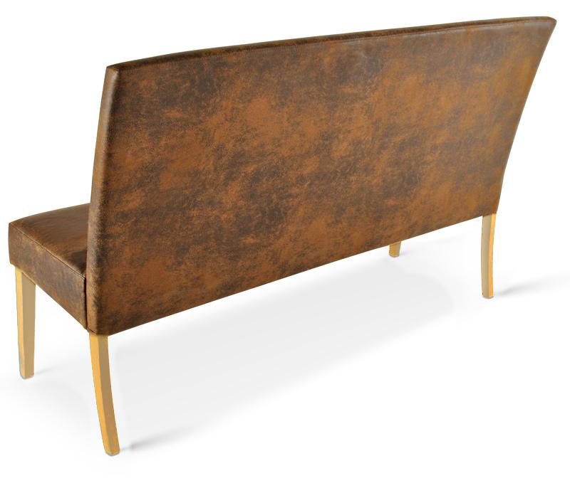 sam sitzbank sergio 140 cm stoff in wildleder optik auf. Black Bedroom Furniture Sets. Home Design Ideas