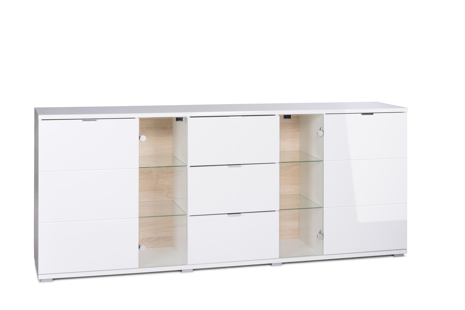 Sam sideboard holz 200 x 85 cm glossy 4 auf lager for Sideboard 200 cm holz