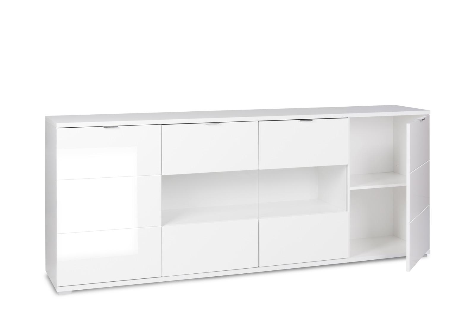 Sam sideboard holz 200 x 85 cm glossy 5 auf lager for Sideboard 200 cm holz