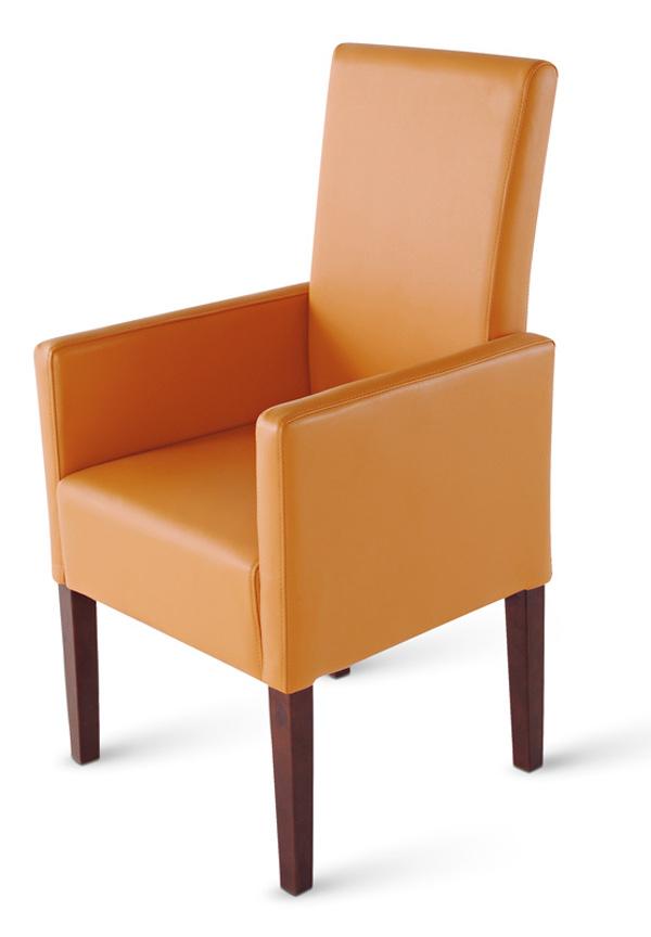sam stuhl set aus recyceltem leder in cognac kolonial 4. Black Bedroom Furniture Sets. Home Design Ideas
