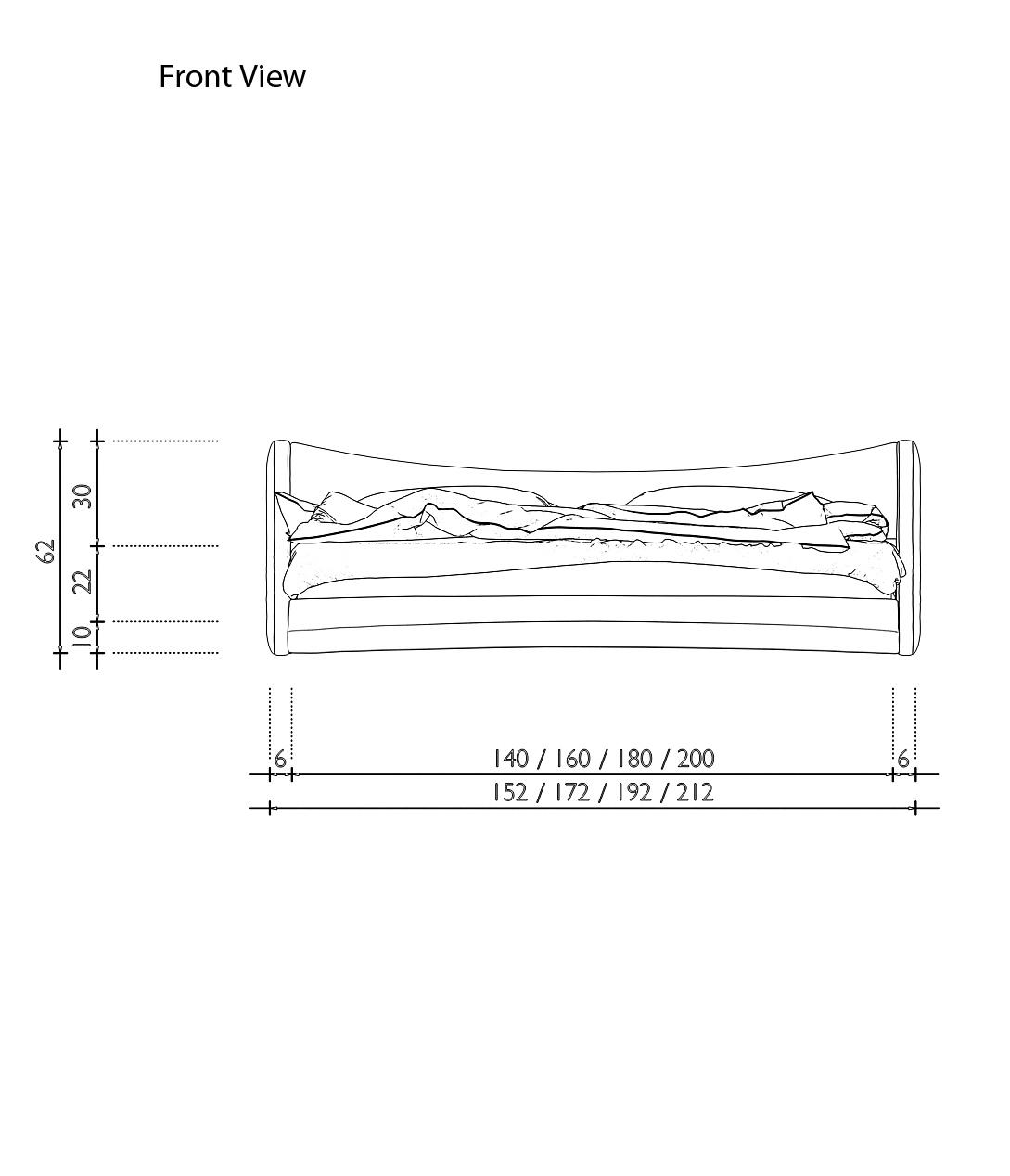 Sam polsterbett 180 x 200 cm farbauswahl nurai bestellware for Farbauswahl wohnung