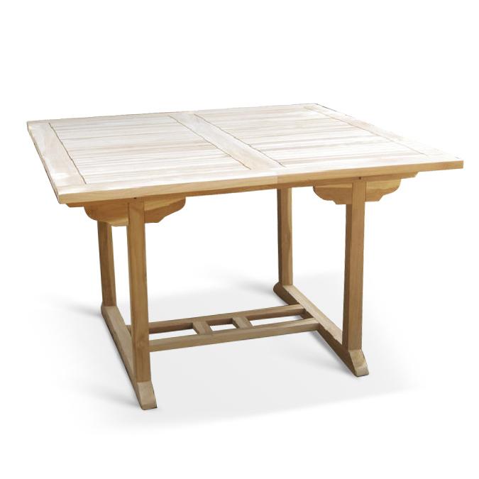 sam teak gartentisch auszug 120 170 x 120 cm cm madera. Black Bedroom Furniture Sets. Home Design Ideas