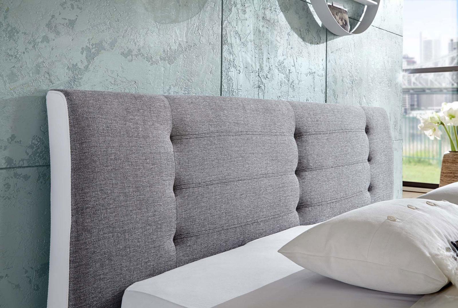 sam rundbett bebop 180 x 200 cm wei grau auf lager. Black Bedroom Furniture Sets. Home Design Ideas