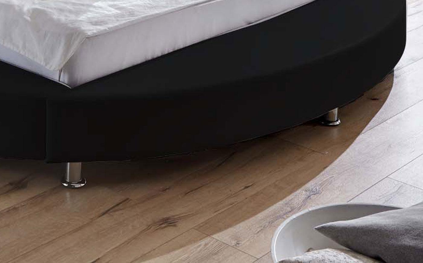 sam rundbett bebop 180 x 200 cm schwarz grau auf lager. Black Bedroom Furniture Sets. Home Design Ideas