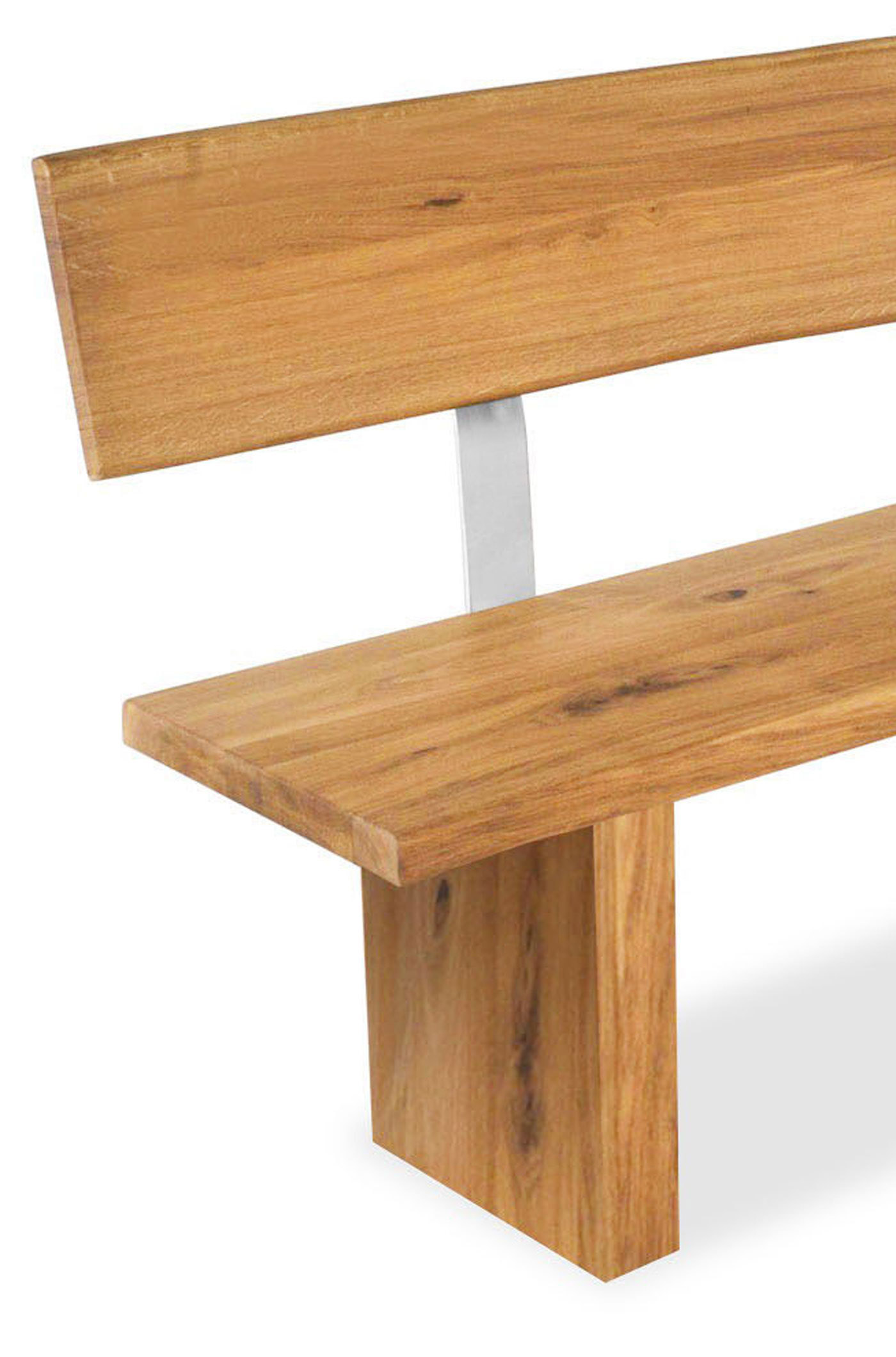 sam baum bank mit r ckenlehne wildeiche 220 x 40 cm zinst. Black Bedroom Furniture Sets. Home Design Ideas